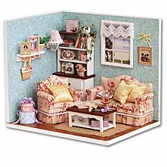 인형의 집 장난감 DIY 광장 집 나무 조각 남성 남여 공용 생일 선물