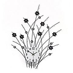 billige Veggklokker-Moderne / Nutidig Blomst / Botanikk Ferie Inspirerende Familie Venner Tegneserie Veggklokke,Nyhet Akryl Metall Innendørs / Utendørs Klokke