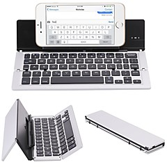 Wireless Tablet Keyboard Mini Slim Foldable Rechargeable Novelty Lithium Battery powered