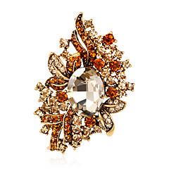Dámské Brože Módní Euramerican Štras Slitina Flower Shape Šperky Pro Svatební Párty Zvláštní příležitosti Denní