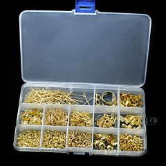 baratos Miçangas & Fabricação de Bijuterias-Kit de descobertas de jóias DIY Alfinetes Cordões Elásticos Wrie Salte anéis Cisalhar Alicates Kits para Fabricação de Bijuterias Metal