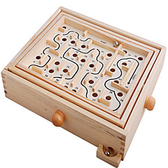 Deskové hry Bludiště a puzzle Bludiště Dřevěný labyrint Hračky Obdélníkový Dřevo Pieces Unisex Dárek