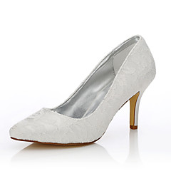cheap Wedding Shoes-Women's Shoes Tulle / Silk Fall / Winter Dyeable Shoes / Club Shoes / Comfort Wedding Shoes Stiletto Heel Pointed Toe for Wedding /
