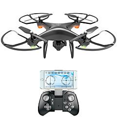 billige Fjernstyrte quadcoptere og multirotorer-RC Drone VISUO XS808 4 Kanaler 6 Akse 2.4G Med 2,0 M HD-kamera Fjernstyrt quadkopter FPV LED-belysning En Tast For Retur Auto-Takeoff