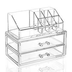 Cosmetic Box Others אחסון איפור אחיד Quadrate אקרילי Bisque