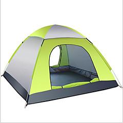 billige Telt og ly-3-4 personer Telt Tilbehør for Telt Enkelt camping Tent Ett Rom Brette Telt Hold Varm Fukt-sikker Velventilert Vanntett Bærbar Ultra Lett