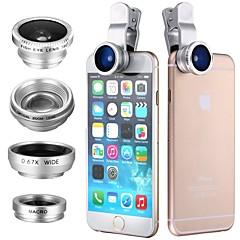Κλιπ 4in1 180 ματιών ψαριού ευρυγώνιος μικροφωτογραφικός φακός για iphone iphone iphone samsung htc