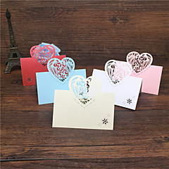 40pcs Lace Heart Laser Cut Wedding Party Table Name Place Cards Wedding Party Decoration Wedding Favors Party Supplies