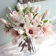 billige Kunstige blomster-Kunstige blomster 1 Gren Europeisk Stil Magnolia Bordblomst
