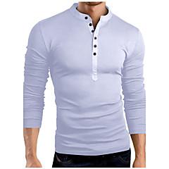 Herrn Solide Wochenende T-shirt, Ständer Schlank Baumwolle