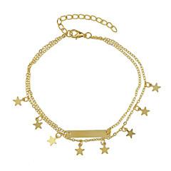 baratos Bijoux de Corps-Tornezeleira - Amigos, Estrela Dourado Para Casual / Mulheres