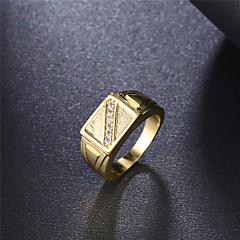 Yüzük Nişan yüzüğü Kübik Zirconia Zarif Moda Klasik Zirkon Kübik Zirconia Altın Kaplama Round Shape Mücevher Için Düğün Parti Nişan Günlük