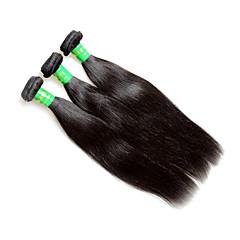 billige Remy fletninger af menneskehår-Remy hår Remy fletninger af menneskehår Lige Indisk hår 300 g 1 år