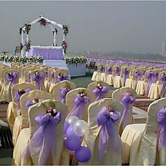 결혼식 피로연 결혼식 피로연 9m * 0.5m 투명 직물 organza