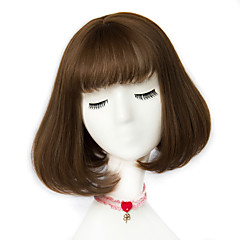 cheap Wigs & Hair Pieces-Synthetic Wig Women's Synthetic Hair Wig Short Capless Ash Brown Brown Grey
