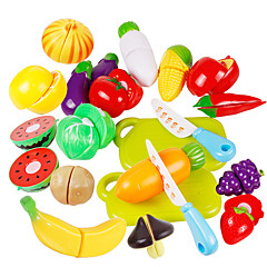 Tue so als ob du spielst Spielzeug-Küchen-Sets Toy Foods Spielzeuge Gemüse friut Kinder Stücke
