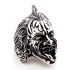 Men's Women's Statement Rings Jewelry Vintage Hip-Hop Euramerican Gothic Statement Jewelry Africa Stainless Steel Animal Shape Skull /