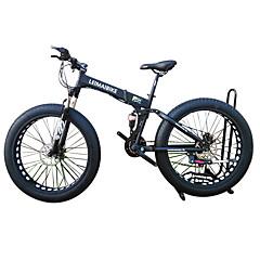 billige Sykler-Snøsykkel Foldesykkel Sykling 21 Trinn 26 tommer (ca. 66cm)/700CC 40 mm SHIMANO 51-7 Dobbel skivebremse Fjærgaffel Bakre støtdemper Vanlig