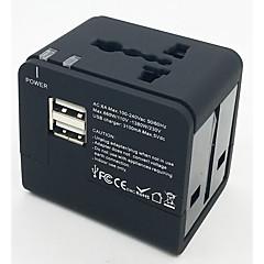 Foxcan eec-148ue multifunkční cestovní zásuvky 3.1a se 2-portovým usbem