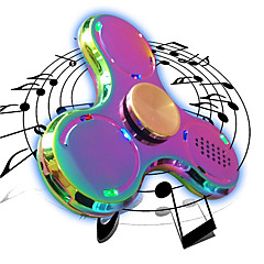 Fidget spinner -stressilelu hand Spinner Lelut Tri-Spinner LED Spinner Metalli EDC Bluetooth kaiutin Stressiä ja ahdistusta Relief Office