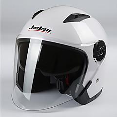 듀얼 렌즈와 jiekai 오토바이 헬멧 남여 스쿠터 모토 헬멧 casco capacete