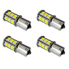 4pcs 1156 ba15s / bay15d 1157 2.5w LEDカーライト電球24 smd 5050テールライト/ブレーキライト/ターンライトDC 12V白/暖かい白
