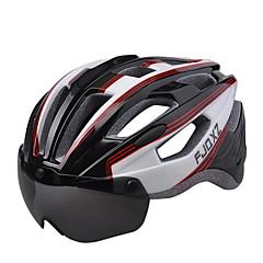 FJQXZ 男女兼用 バイク ヘルメット 17 通気孔 サイクリング マウンテンサイクリング ロードバイク レクリエーションサイクリング L: 59-63 cm 1680D防水材