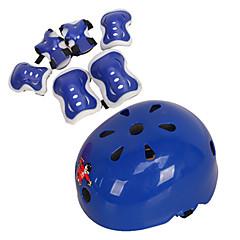 baratos Patinetes, Skates & Patins-Infantil Material de Protecção Joelheiras, Cotoveleiras & Munhequeiras Capacete de Skate para Ciclismo Patinação no Gelo Skate Patins em