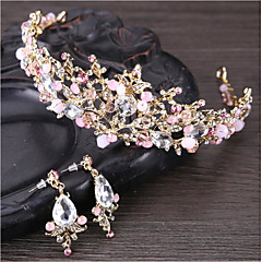 Women's Tiaras Crystal Rhinestone Floral Basic Natural Wedding Anniversary Event/Party Engagement Ceremony Crystal Rhinestone Alloy Flower