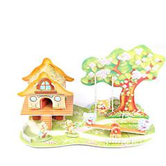 tanie Gry i puzzle-Zabawki 3D Model Bina Kitleri Dom Architektura DIY Papier wysokiej jakości Klasyczny Dla obu płci Prezent