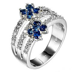 Dames Ringzettingen Bandringen Ring Kubieke Zirkonia BergkristalBasisontwerp Uniek ontwerp PERSGepersonaliseerd leuke Style Euramerican