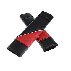 billige Setetrekk til bilen-Setebelte deksel setebelte Rød Lær Funksjon