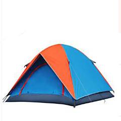 billige Telt og ly-3-4 personer Telt Dobbelt camping Tent Brette Telt Hold Varm Støvtett til Camping & Fjellvandring Andre Material CM