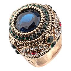 billige Motering-Dame Krystall Statement Ring Ring - Harpiks, Strass Statement, Personalisert, Luksus 7 / 8 / 9 / 10 Utvalgte Farger Til Jul Julegaver Bryllup