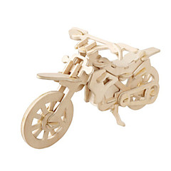 baratos -Quebra-Cabeças 3D Quebra-Cabeça Modelos de madeira Aeronave Moto Construções Famosas Faça Você Mesmo De madeira Papel de Cartão Clássico SUV Crianças Unisexo Brinquedos Dom