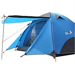 billige Telt og ly-BSwolf 3-4 personer Telt Dobbelt Lagdelt camping Tent Utendørs Vanntett, Regn-sikker, Støvtett til Camping & Fjellvandring >3000 mm Terylene, Aluminium