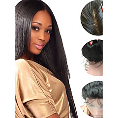 cheap Wigs & Hair Pieces-Human Hair Unprocessed Human Hair Glueless Full Lace Full Lace Wig Brazilian Hair Kinky Curly Wig 150% Density with Baby Hair Natural Hairline African American Wig 100% Hand Tied Women's Short Medium