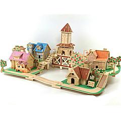 billige -3D-puslespill Puslespill Tremodeller Modellsett Kjent bygning Hus GDS Tre Klassisk Romantikk Unisex Gave