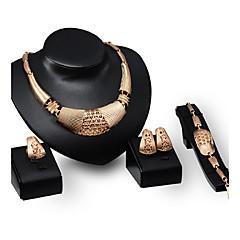 baratos Conjuntos de Bijuteria-Mulheres Conjunto de jóias - Chapeado Dourado Personalizada, Luxo, Vintage Incluir Dourado Para Festa / Ocasião Especial / Housewarming
