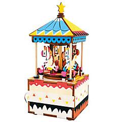 Holzpuzzle Spielzeuge Pferd Karusell Zeichentrick Heimwerken Kinder Stücke
