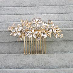 cheap Party Headpieces-Crystal Rhinestone Hair Combs Headpiece Classical Feminine Style