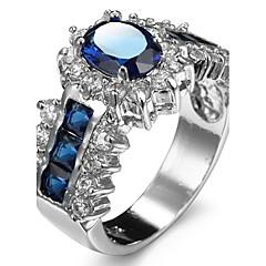 Women's Ring Settings Ring Luxury Zircon Geometric 2 Colors Sexy Rhinestone Cute Style Movie Jewelry Euramerican Fashion Daily Party