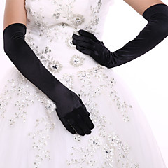 cheap Party Gloves-Spandex Opera Length Glove Bridal Gloves Party/ Evening Gloves With Rhinestone