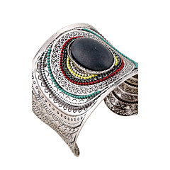 cheap -Women's Bangles Cuff Bracelet ID Bracelets Fashion Vintage Bohemian Punk Costume Jewelry Resin Rhinestones Circle Geometric Jewelry For