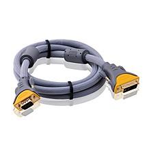 DVI Adapterkabel, DVI to VGA Adapterkabel Han - Han Forgyldt kobber 3.0M (10ft)