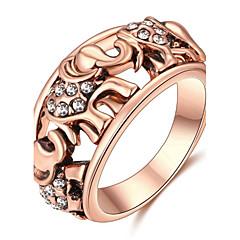levne -Dámské Široké prsteny Základní design láska Sexy Módní Přizpůsobeno Cute Style luxusní šperky Klasický Elegantní Slitina Animal Shape Slon