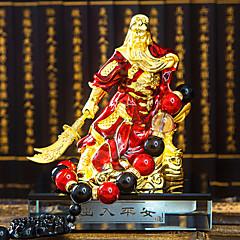 ornamentos automóvel DIY decoração Ping An guan gong guan yu Guan Huishen ouro gongo contas fortuna carro pingente&enfeites