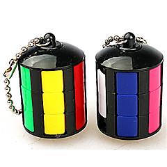 Rubiks kube Glatt Hastighetskube Stress relievers Magiske kuber Nøkkelring Plastikker Rund Gave