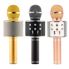 cheap Microphones-WS-858 Mic Karaoke Microphone Wireless headphone Mini Portable Wireless Bluetooth 4.1 bluetooth Speaker WS858 Outdoor KTV