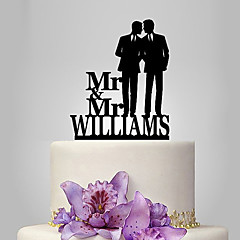 cheap Cake Toppers-Cake Topper Classic Theme People Wedding Same Sex Plastic Wedding With Poly Bag